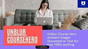 Unblur Coursehero Answers