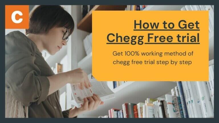 Chegg free trial